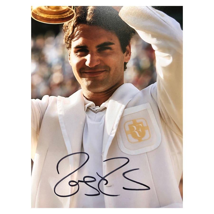Roger Federer Signed Photo Display