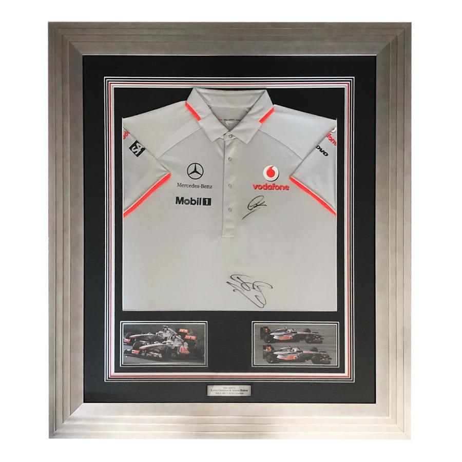 Lewis Hamilton & Jenson Button Signed McLaren Shirt