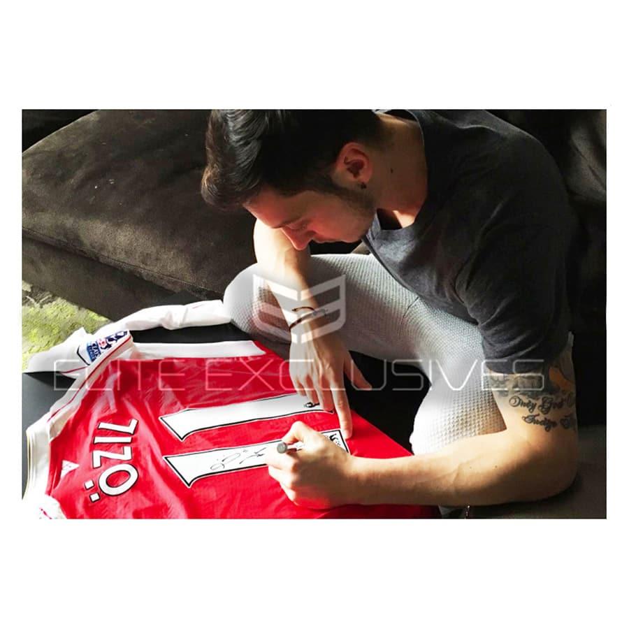 Mesut Özil Signed Match Worn Arsenal Shirt