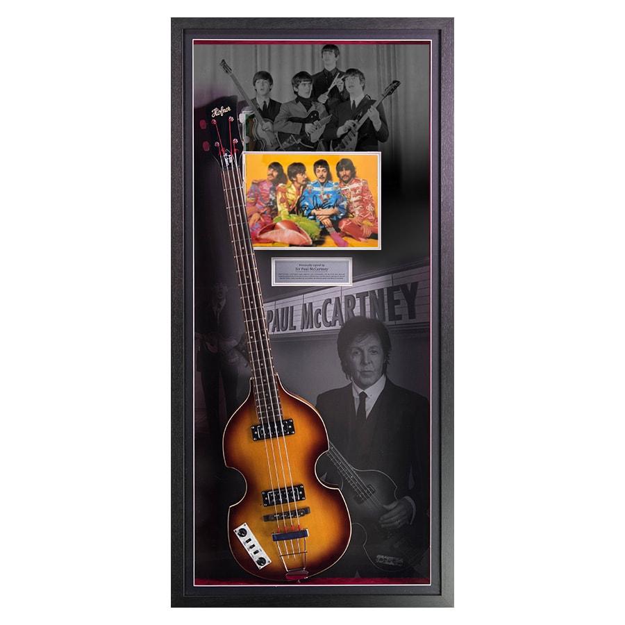 Paul McCartney Signed Photo Guitar Display – The Beatles
