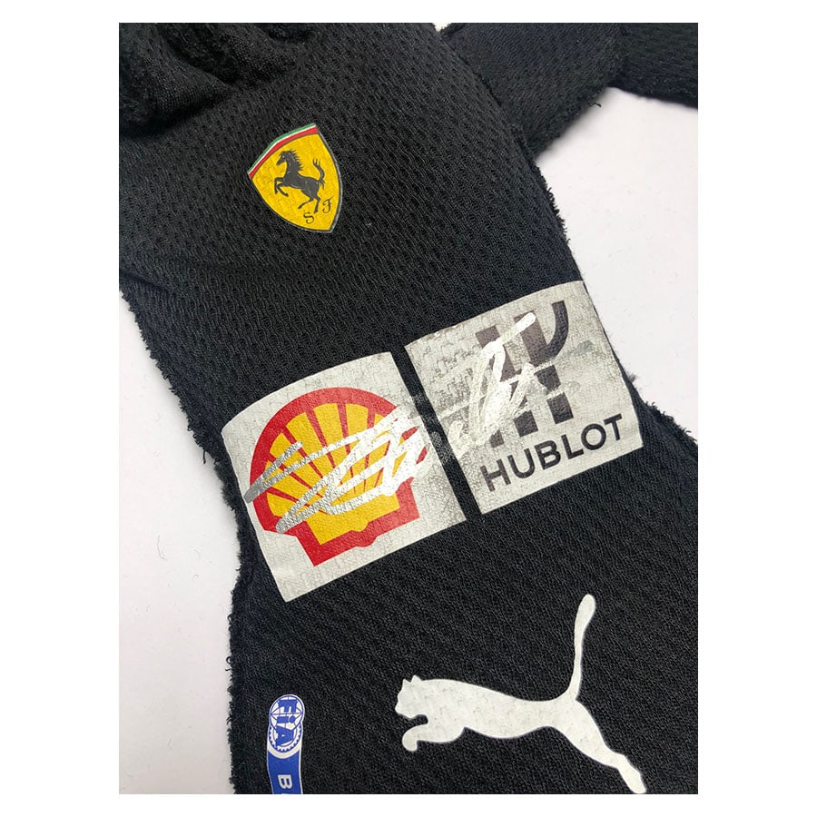Charles Leclerc Signed Ferrari Gloves 2020