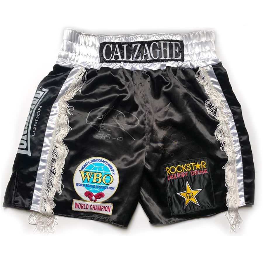 Joe Calzaghe Signed Personal 2007 Shorts – Very Rare
