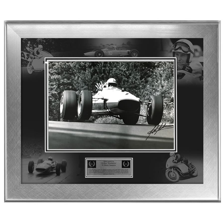 John Surtees Signed Photo Display