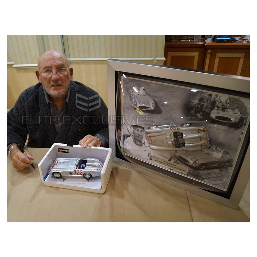 Sir Stirling Moss Signed Mercedes Mille Miglia 1:18 Scale Car – Limited Edition