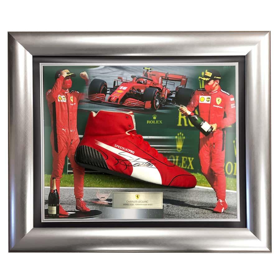 Charles Leclerc Signed Puma Race Boot – Ferrari F1