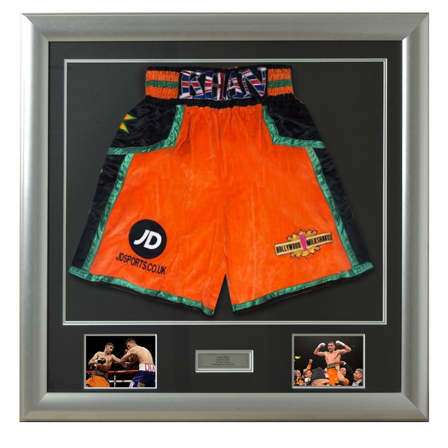 Amir Khan v Julio Diaz 2013 Fight Used Shorts