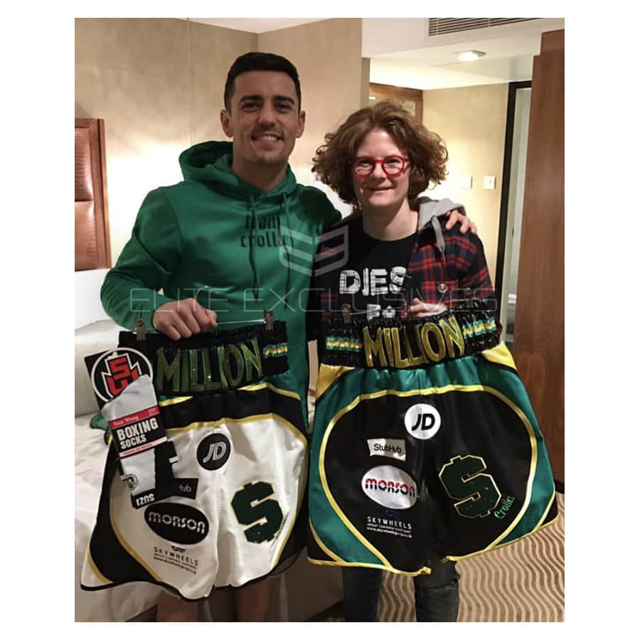Anthony Crolla Signed Personal 2017 Fight Shorts – Super Rare