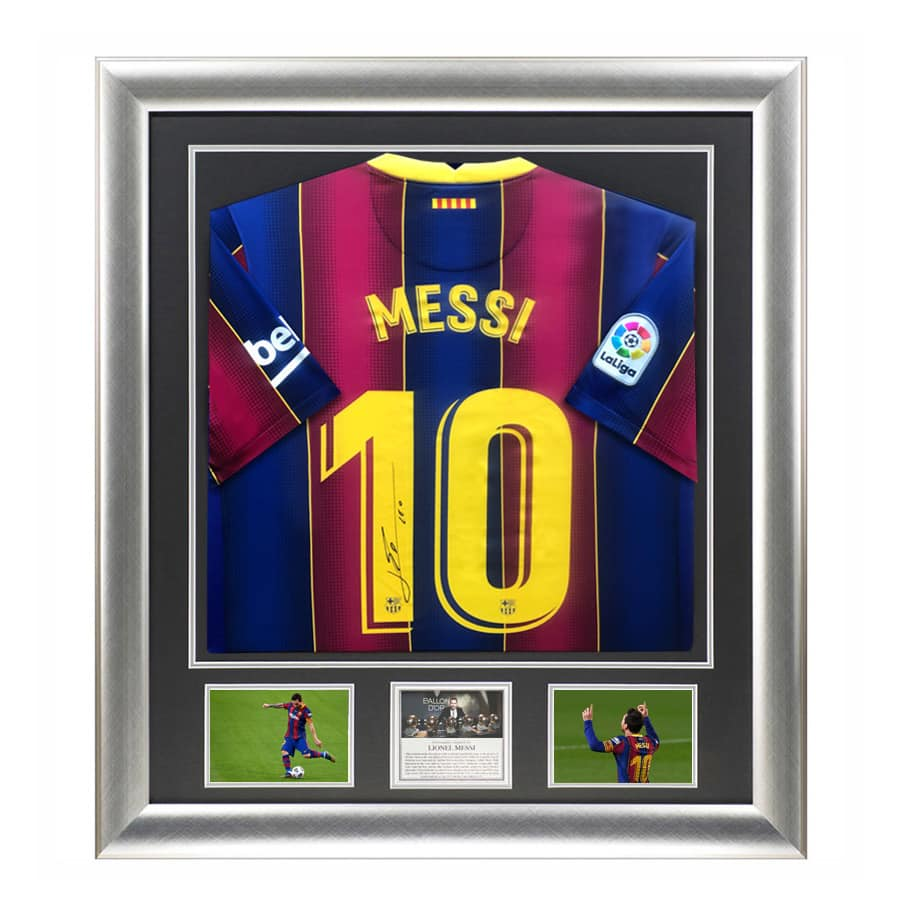 Lionel Messi Signed 2021 FC Barcelona Shirt