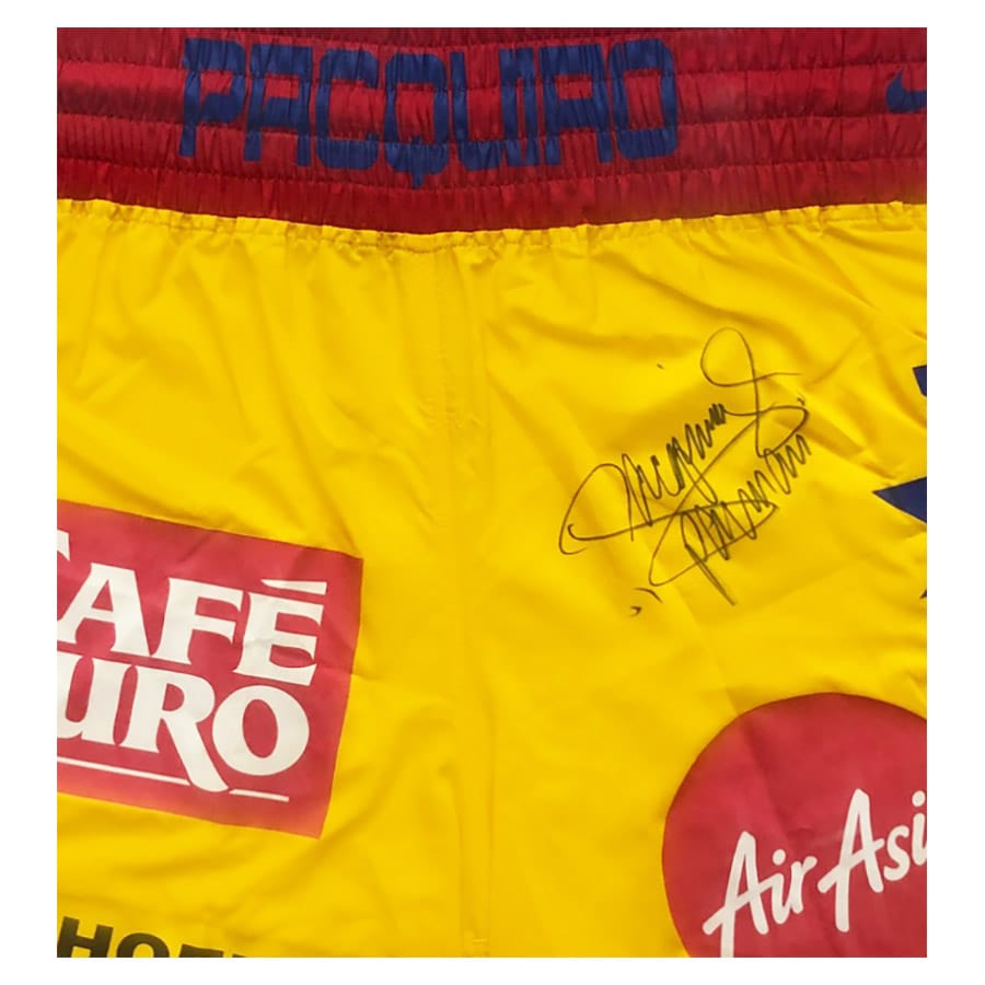 Signed Manny Pacquiao Shorts Framed Display