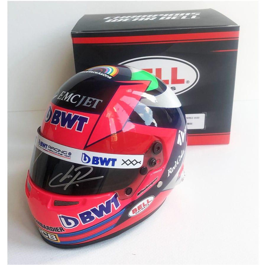 Signed Sergio Pérez 1/2 Scale Helmet 2020 – Race Win Racing Point F1