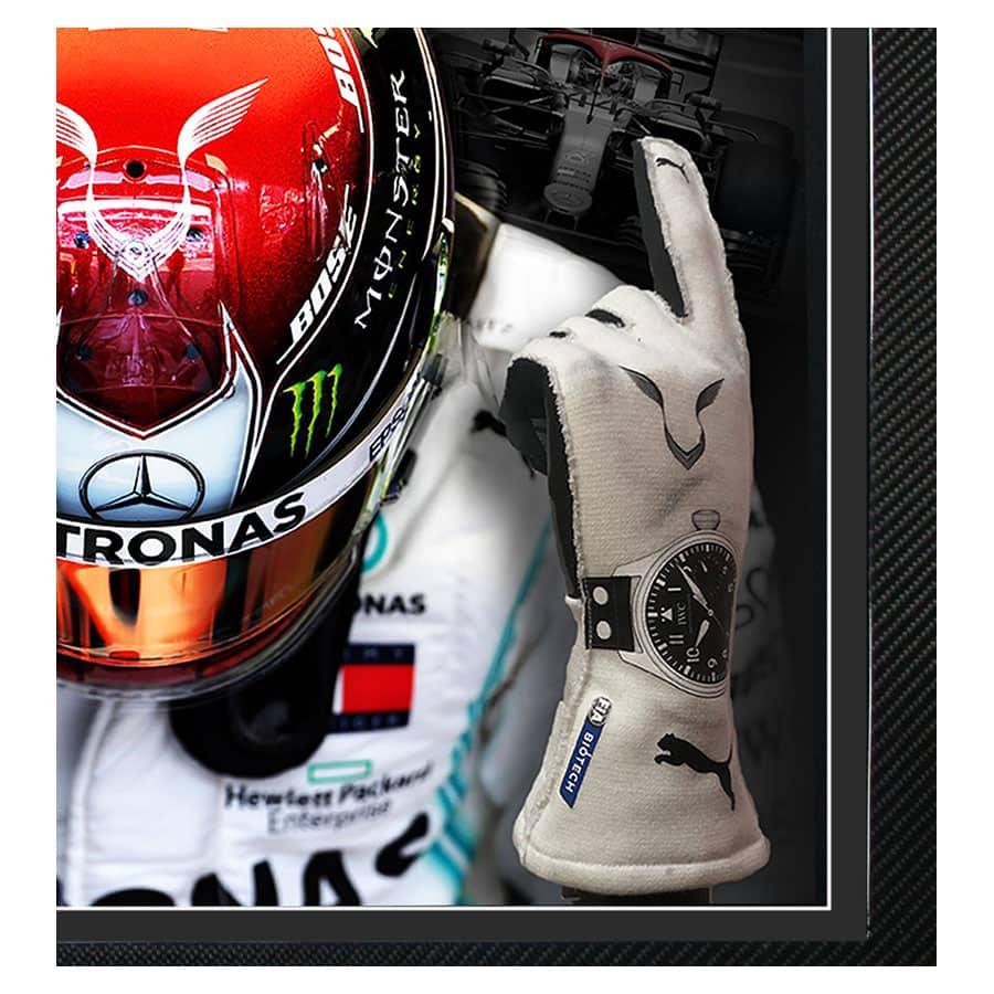 Lewis Hamilton Used Gloves 2019 – Carbon Fibre Frame