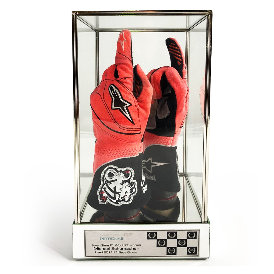 Michael Schumacher Used Personal F1 Gloves – 2011 Mercedes