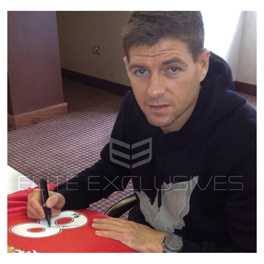 Steven Gerrard Signed Liverpool FC Shirt – LFC Display