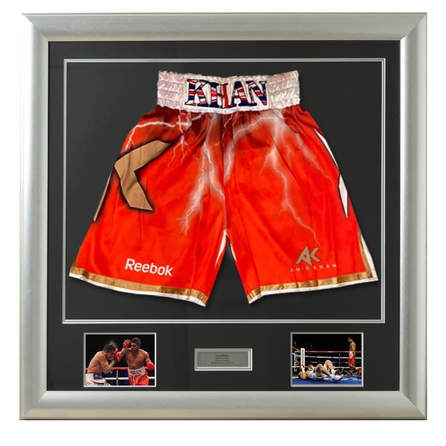 Amir Khan v Marcos Maidana 2010 Fight Used Boxing Shorts – Very Rare