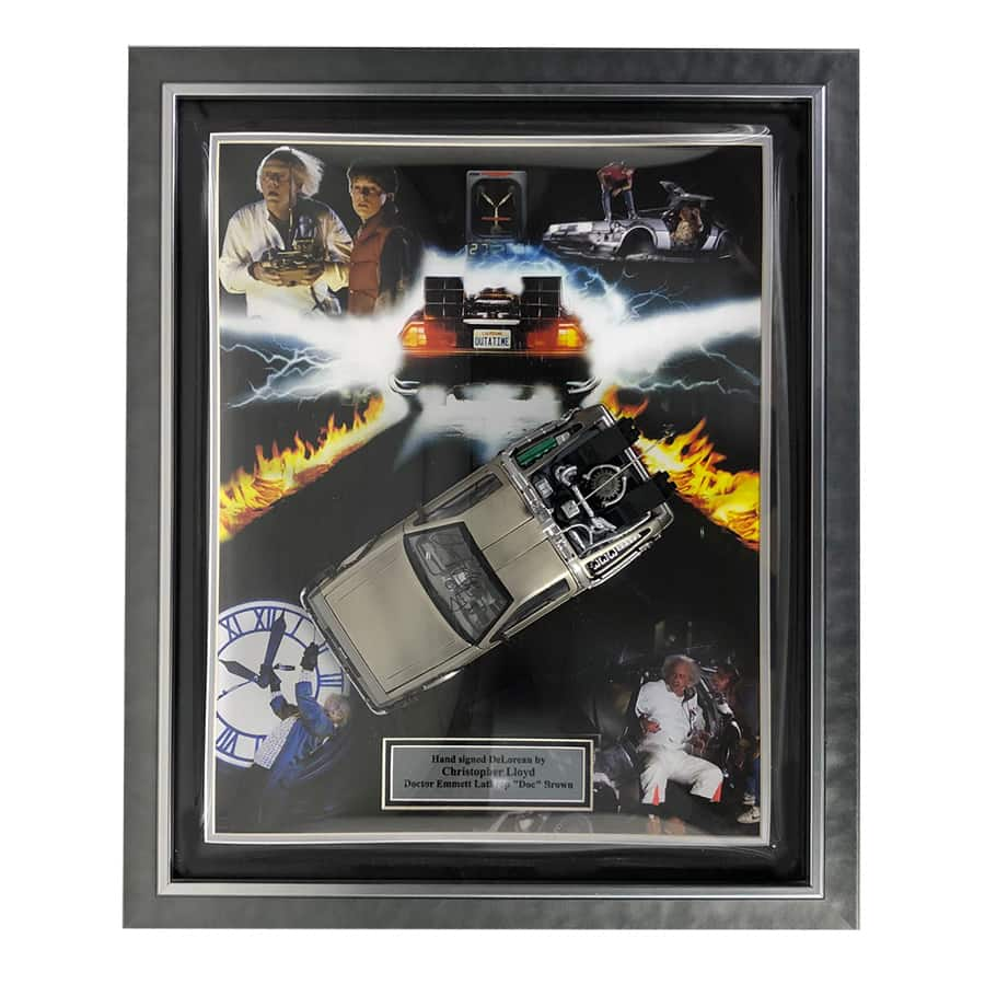 Christopher Lloyd Signed Back To The Future Movie Display
