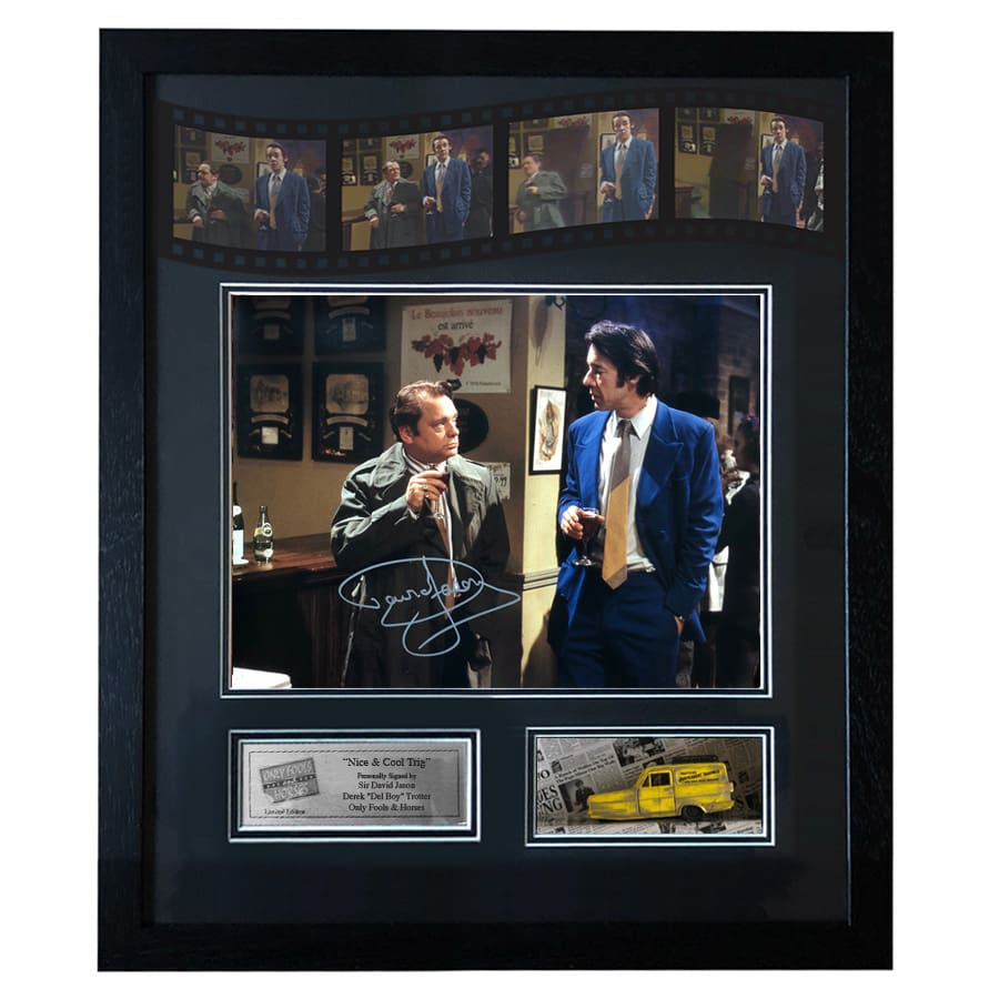 Only Fools and Horses – Signed by David Jason – Falling through the bar scene