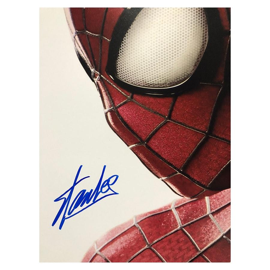 Stan Lee Signed Spiderman Movie Display