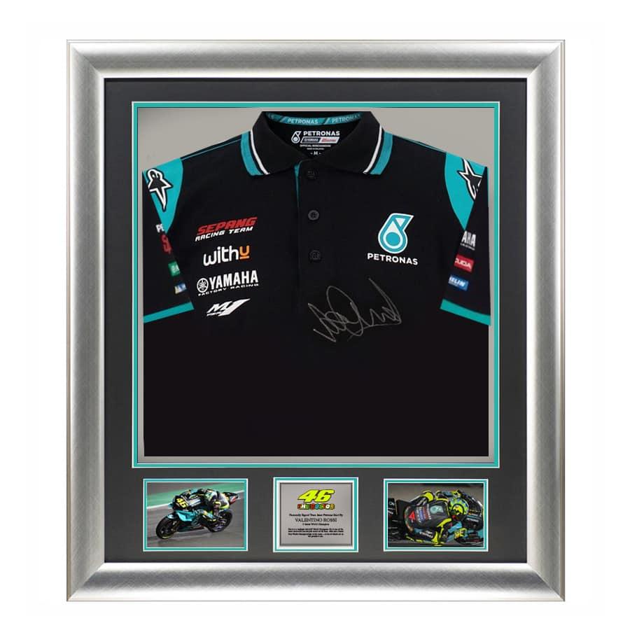 Valentino Rossi Signed Yamaha Petronas Shirt 2021 Display