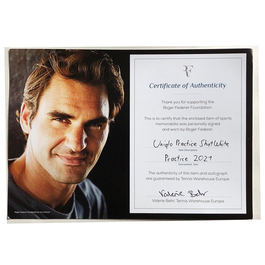 Roger Federer Signed 2021 Worn Practice Shirt