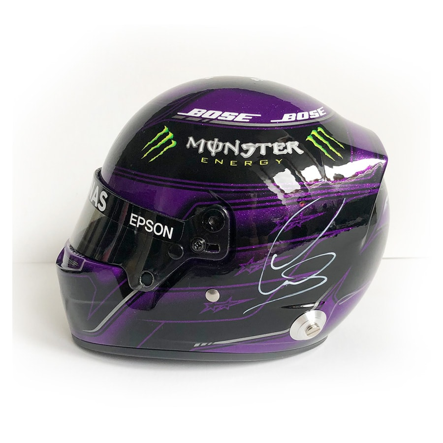 Lewis Hamilton Signed 1/2 Scale Helmet – 2020 Mercedes F1 (2)