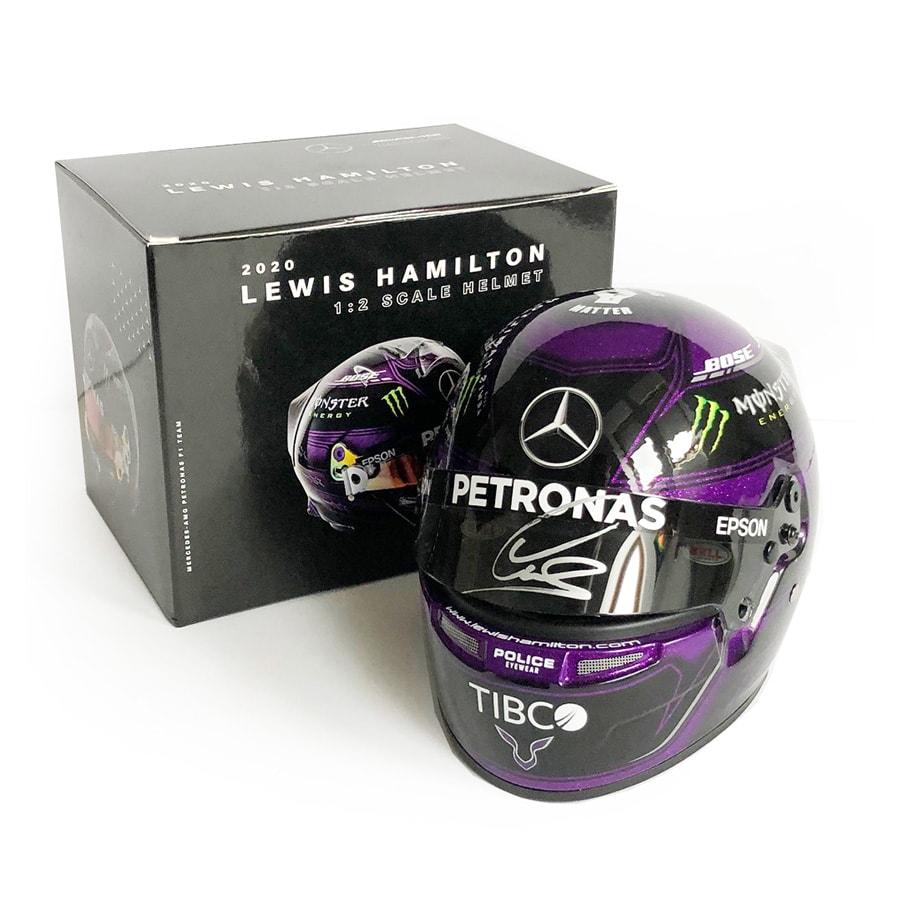 Lewis Hamilton Signed 1/2 Scale Helmet – 2020 Mercedes F1